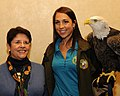 Posing for picture with Bald Eagle. (10595516065).jpg