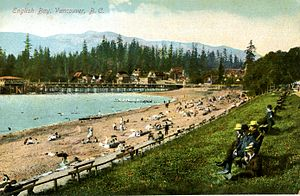 English Bay, Vancouver, Canada.