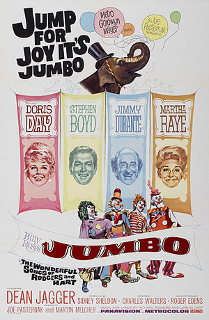 Billy Rose's Jumbo - Theatrical release poster