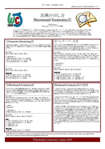 file poster presentation on how to cite works at wikimedia