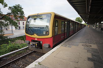 Potsdam-Babelsberg station - Train of class 481 on S-Bahn line 7 on the way to Ahrensfelde