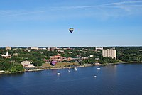 Poughkeepsie, NY with evening balloon take-off.JPG