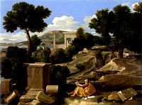 Poussin - Paysage avec saint Jean à Patmos - Chicago Art Institute.jpg