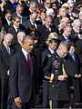President Barack H. Obama, left, and U.S. Army Maj. Gen. Jeffrey S. Buchanan, the commanding general of Joint Force Headquarters-National Capital Region, the U.S. Army Military District of Washington, attend 131111-D-HU462-246.jpg