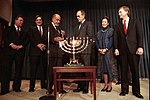 President Bush and Vice President and Mrs. Quayle Participate in a Hanukkah Celebration.jpg