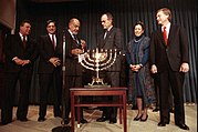 President Bush and Vice President and Mrs. Quayle Participate in a Hanukkah Celebration