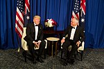 President Donald Trump meets with Australian Prime Minister Malcolm Turnbull for a bilateral meeting aboard the Intrepid Sea, Air & Space Museum, Thursday, May 4, 2017, in New York City.jpg