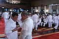 President Rodrigo Duterte chats with Defense Secretary Delfin Lorenzana during the oath of office of newly-promoted generals and flag officers.jpg