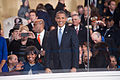 President and first lady wave to performers at 57th Inaugural Parade 130121-Z-QU230-269.jpg
