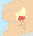 Preston (unparished area) locator map.png