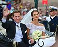 Prinsessan Madeleine & Christopher O'Neill efter bröllopet.jpg