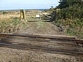 Private Level Crossing - Golf course - geograph.org.uk - 1479766.jpg