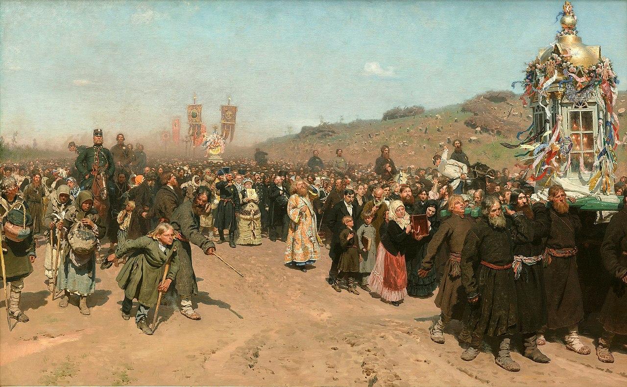 Ilya Repin: Procesión de pascua en la región de kursk