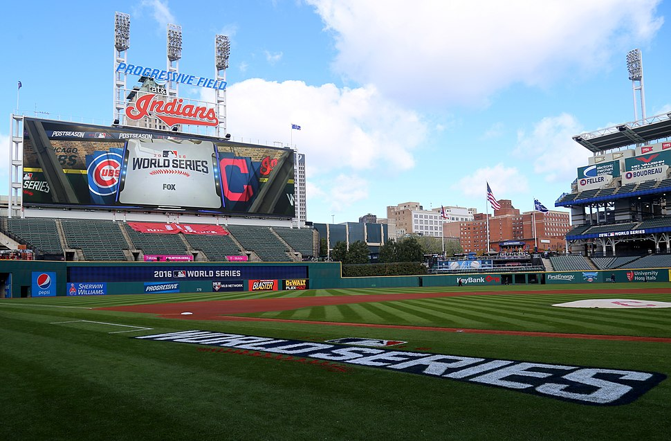 Progressive Field, hours before Game 1 of the 2016 World Series