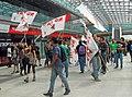 Protesta dei No Tav a Torino (Stazione di Porta Susa) - 10 maggio 2014.JPG