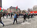 Protesters in Trondheim who sympathize with Palestine on International workers day in 2013.JPG