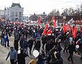 Protestors march on the Minin & Pozharsky Square, Nizhny Novgorod, 4 February.jpg