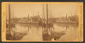 Providence Harbor. View of steamboats and sailing vessels, by Leander Baker.png