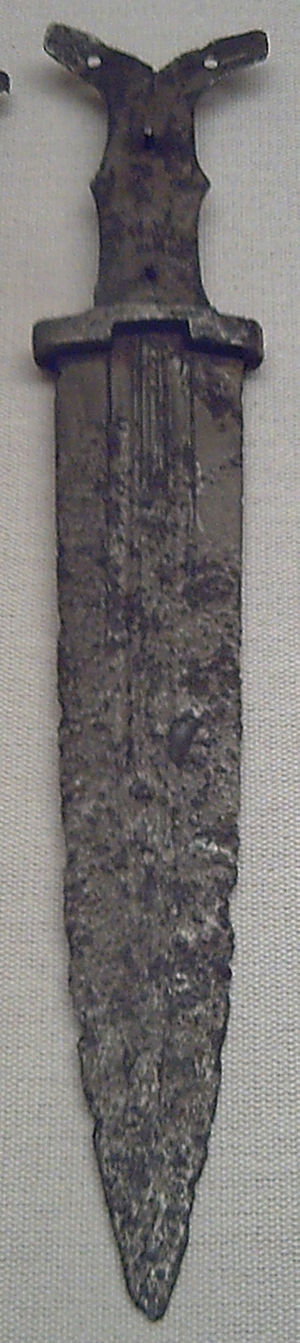 Dagger - Pre-Roman Iberian iron dagger forged between the middle of the 5th century BC and the 3rd century BC