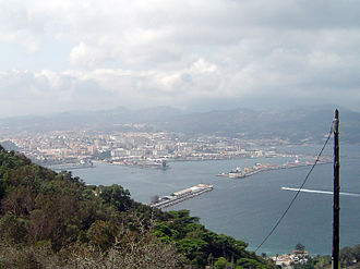 Port of Ceuta - The port as seen from Monte Hacho