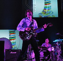 Jarvis Cocker performing with Pulp at the Coachella Festival in 2012.