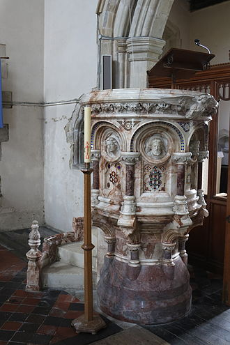 St Michael and All Angels' Church, Waddesdon - Pulpit from Blenheim Palace chapel