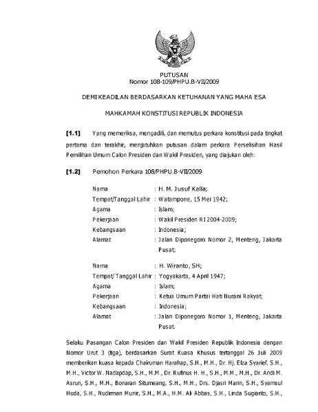 File:Putusan Mahkamah Konstitusi Republik Indonesia Nomor 108-109-PHPU.B-VII-2009.djvu