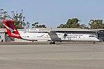 QantasLink (VH-QOV) Bombardier DHC-8-402Q taxiing at Wagga Wagga Airport (1).jpg