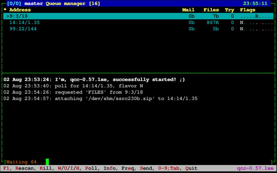 Qcc-0.57.1xe master queue