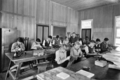 Queensland State Archives 2857 Leatherwork class at Nambour State Rural School 1946.png