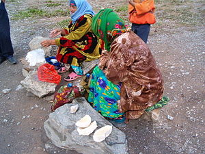 Kashk - Qurut being sold in Tajikistan