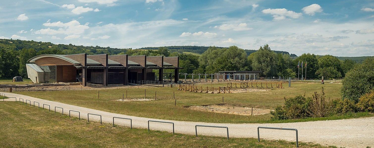 Die Thermen im Europäischen Kulturpark Bliesbruck-Reinheim, Grabungsfeld Bliesbruck, Frankreich.