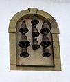 Rüthen ehemaliges Augustinerinnenkloster Glockenspiel an der Vorderseite.JPG