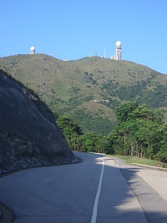 Tai Mo Shan - Tai Mo Shan Road, and Tai Mo Shan peak in distance