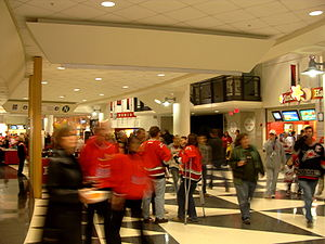 PNC Arena - One of the main concourses inside PNC Arena during a Hurricanes game in 2009.