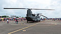 ROCA CH-47 7302 in Ching Chuang Kang AFB Apron Rear Right View 20140719.jpg