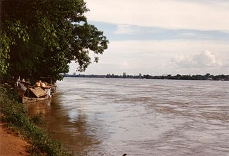 Chindwin River - River Chindwin at Monywa
