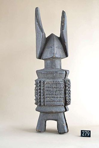 Odinani - A miniature abstract cylindrical Ikenga figure.