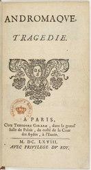 Jean Racine: Andromaque. Tragédie