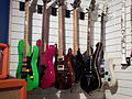 Rack of pretty guitars, Museum of Making Music.jpg