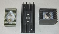Three cases of the heat sink