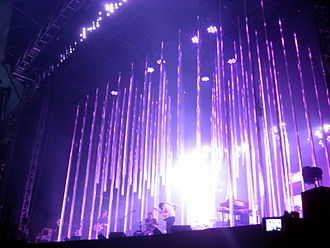 LED stage lighting - LED lighting instruments used on Radiohead's 2008 tour