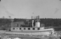 Radium Cruiser undergoing her maker's tests, in Owen Sound, May 1939.png