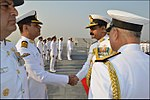 Radm MA Hampiholi, NM meeting the Commanding Officers of Western Fleet ships.jpg