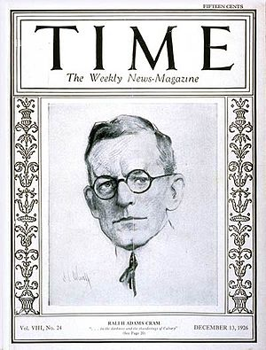 Ralph Adams Cram - Cover of Time magazine (December 13, 1926)