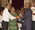 Ram Nath Kovind presenting the Kirti Chakra to Major David Manlun (Posthumous) the award received by his mother Smt. Nan Nuan Niang and father Subedar (Retd.) M. Khamzalam, at the Defence Investiture Ceremony–I.jpg