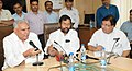 Ram Vilas Paswan and the new Minister of State for Consumer Affairs, Food and Public Distribution, Shri C.R. Chaudhary interacting with the media, in New Delhi.jpg