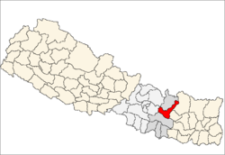 map of Ramechhap, Nepal