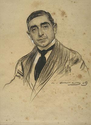 Dionisio Baixeras Verdaguer - Baixeras seen by Ramon Casas (MNAC).
