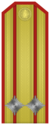 Rank insignia of Подполковник of the Bulgarian Army.png